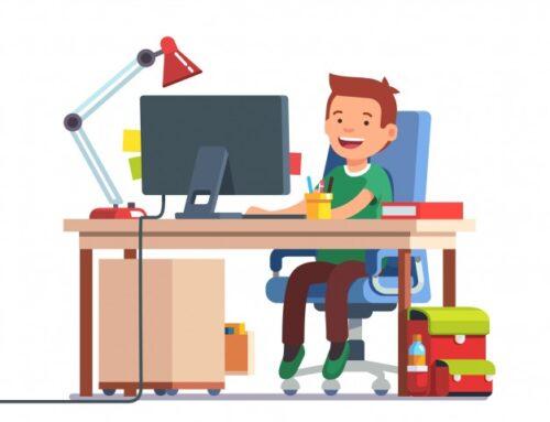 Organizacja dzieciom i młodzieży warunków do pracy w domu.