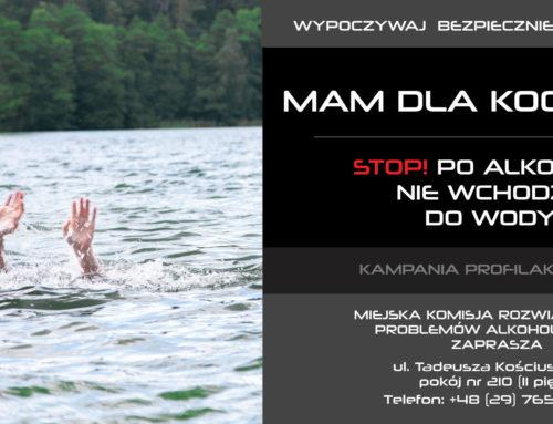 STOP! Po alkoholu nie wchodzę do wody!