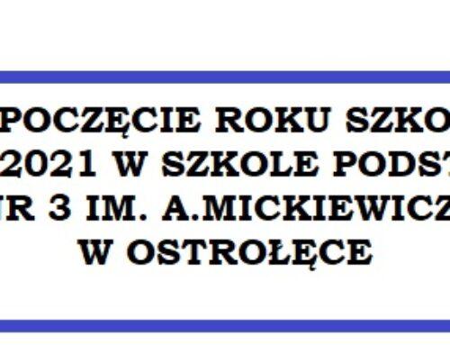 Harmonogram rozpoczęcia roku szkolnego 2020/21