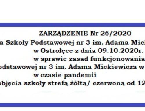 ZARZĄDZENIE Nr 26/2020